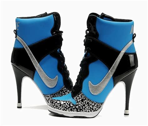nike high heels high heel nike dunks for kickin while looking