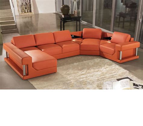 Leather Bonded Sofa Dreamfurniture 2315 Modern Bonded Leather Sectional Sofa