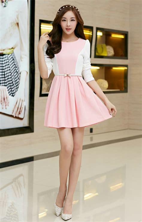 korean 2014 princess dress fitted sweet pink