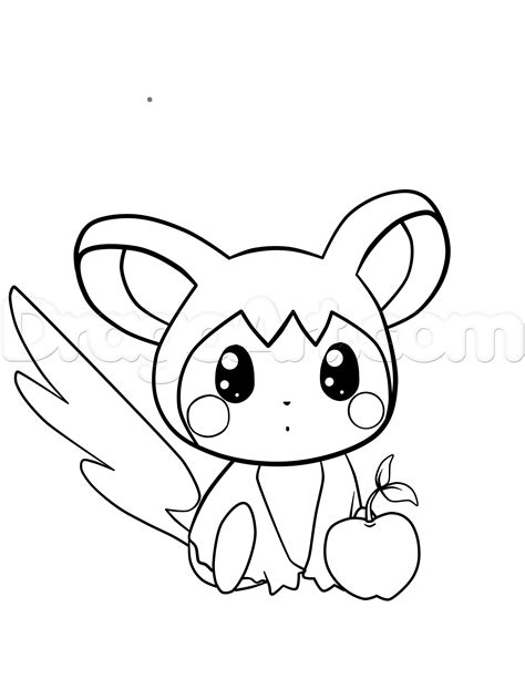 pokemon coloring pages emolga how to draw emolga from pokemon step by step pokemon