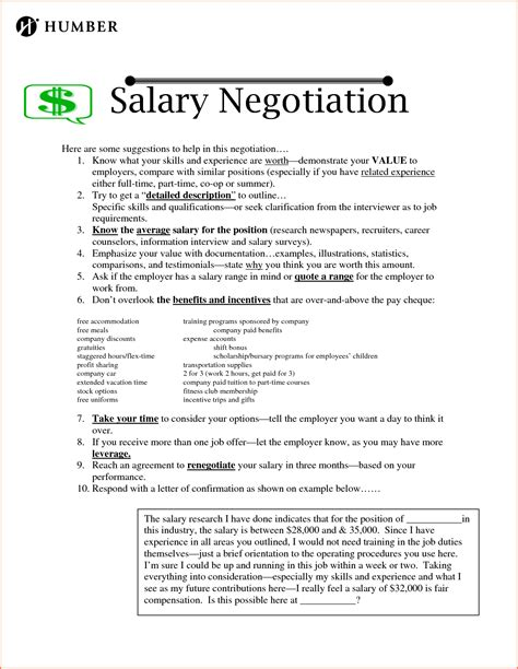 Raise Negotiation Letter Sle 12 Sle Salary Letter Sales Slip Template
