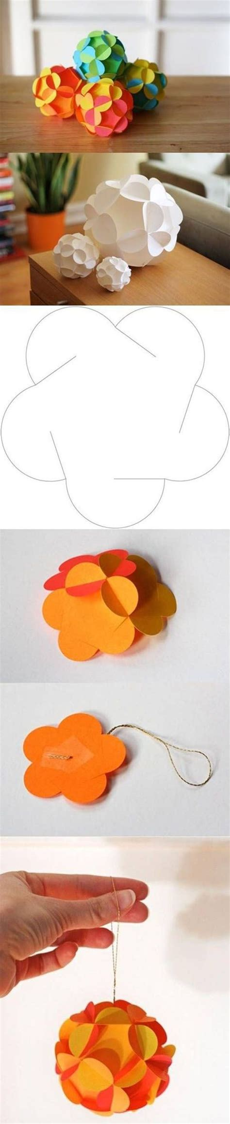 Paper Balls Craft - beautiful paper craft diy crafts projects to try