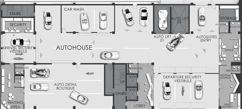 automotive floor plans auto house