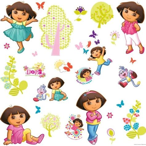 dora the explorer wall decals a mighty girl