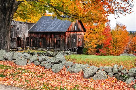 sw boat tours near me rustic barn new hshire autumn scenic photograph by