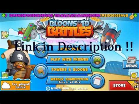bloons td 4 apk free bloons td battles 3 4 4 mod apk unlimited money