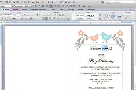 make wedding invitations in microsoft word diy tutorial free printable invitation and rsvp card