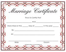 Free Marriage Certificate Template by Free Fancy Printable Marriage Certificates Templates