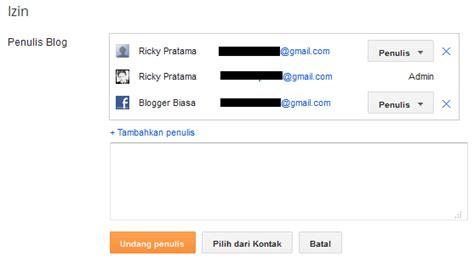 blogger penulis panduan blogspot menu setelan dasar