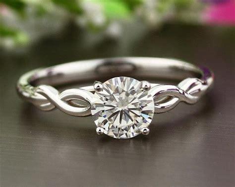 infinity engagement ring set infinity 14k white gold forever brilliant moissanite