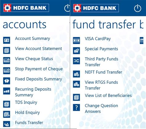 hdfc bank mobile banking hdfc mobile banking app now available in windows phone