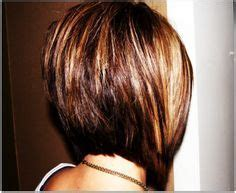 the back of penneys new haircut medium length stacked bob brunette medium length