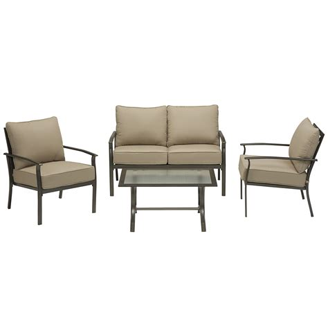 garden oasis harrison 4 cushion seating set