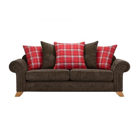 pillow back sofa montana 3 seater sofa with pillow back charcoal fabric