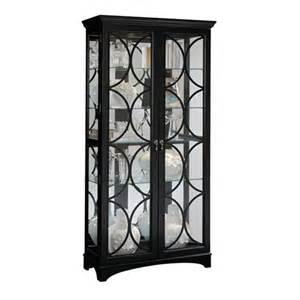 Pulaski Curio Cabinet Black Pulaski Oxford Black Door Curio Cabinet 21423