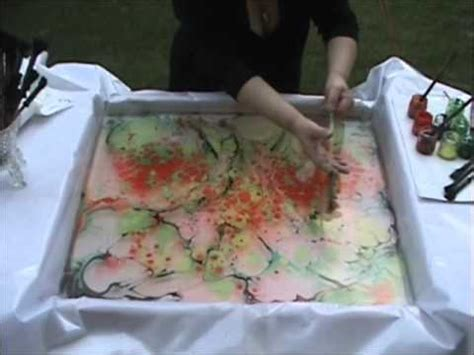 how to marble acrylic paint on canvas colour and marbling on canvas