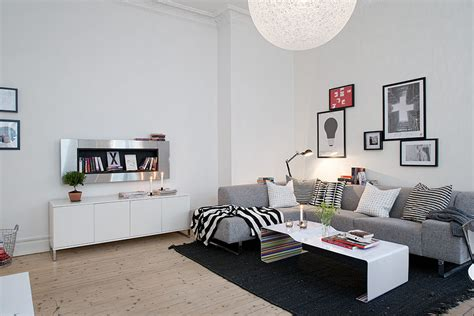 swedish apartment boasts exciting mix of old and new open space living interior design ideas