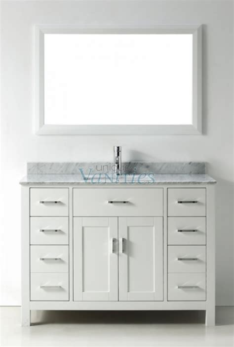 48 Inch Single Sink Bathroom Vanity in White UVABXKAWH48