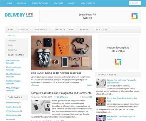 download new templates for blogger delivery lite blogger template newbloggerthemes com