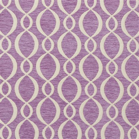 reupholstery fabric b0860b purple and off white woven striped ovals chenille