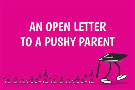 Open Letter To by An Open Letter To A Pushy Parent Blitzbooks