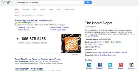search adds customer service phone numbers to search
