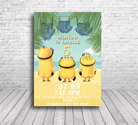 free minion invitation template minion invitations theruntime