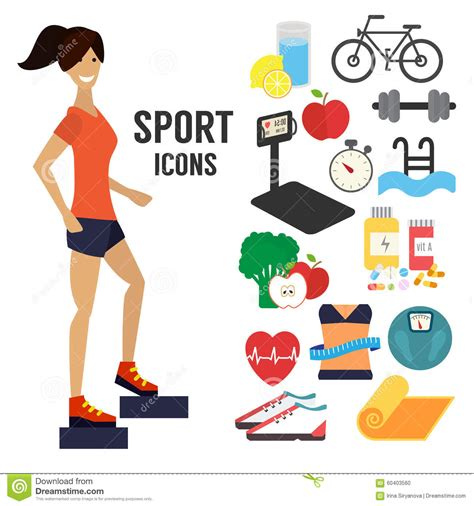 sport fitness a guide to a healthier lifestyle books fitness sport infographic icons stock vector