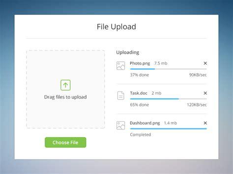 File Upload Ui Inspiration Muzli Blog File Upload Website Template