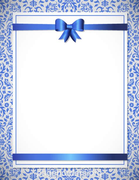 Wedding Borders Vector by Wedding Borders Blue Wedding Border Clip Page Border