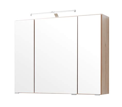 badezimmer spiegelschrank buche bad spiegelschrank 3 t 252 rig mit beleuchtung 80 cm