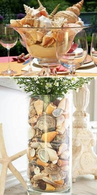 seashell centerpieces on shell centerpieces nautical table centerpieces and