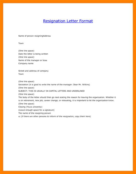 How To Type Resign Letter by 5 Regine Letter Format In Word Format Of Notice