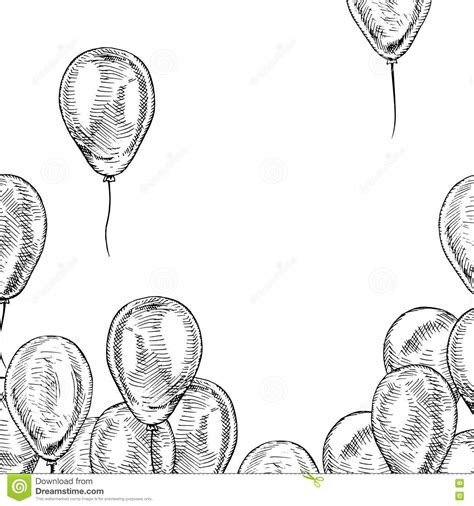 balloon doodle vector free frame of balloons stock vector illustration