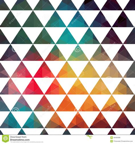 pattern with different shapes triangles pattern of geometric shapes colorful mosaic