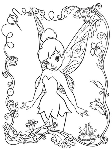 tinkerbell coloring pages to print coloring home