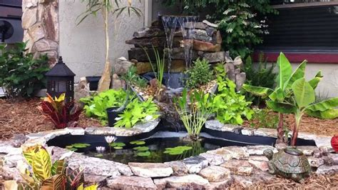 Stone Border Ponds Diy Small Backyard Ponds With Waterfall Diy Backyard Pond Ideas