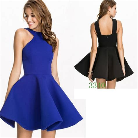 womens unique and bold clothing a line halter sleeveless flare vestidos casual womens