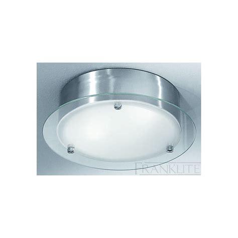 Circular Ceiling Lights Cf1249 Circular Flush Ceiling 2 Light Satin Nickel And Glass Ip44
