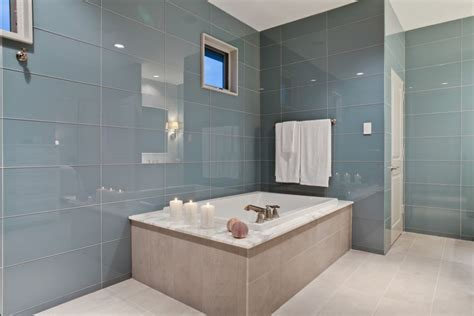 bathroom big tiles bathroom look bigger with large format glass tile