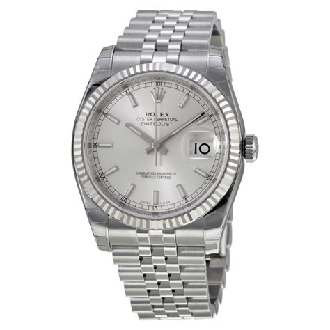 Rolex Silver rolex oyster perpetual 36 mm silver stainless steel