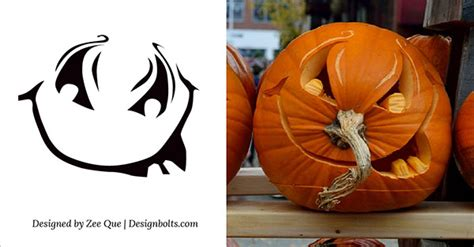 printable scary halloween pumpkin carving stencils