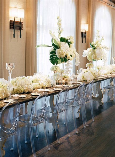 Reception Décor Photos   Tropical Head Table with Ghost