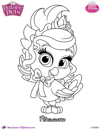 coloring pages princess pets princess palace pets coloring page of birdadette skgaleana