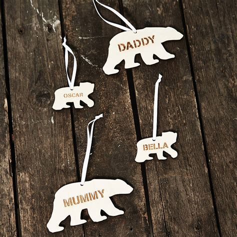 polar decorations personalised polar decoration by