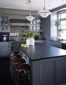 black and grey kitchen cabinets medium grey cabinets black counter probably too much