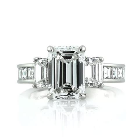 4 42ct emerald cut engagement ring