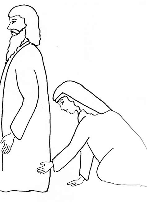 coloring page jesus heals bleeding bible story coloring page for jesus and the with the