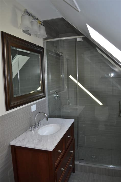 bathrooms in attic spaces attic finish barts remodeling chicago il