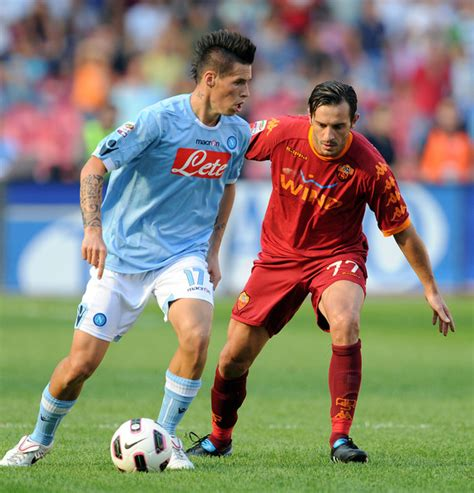 cassetti marco marek hamsik pictures ssc napoli v as roma serie a